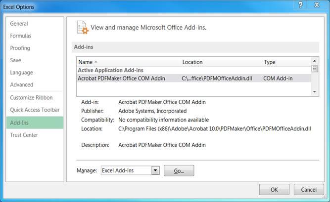 LD Tools Excel on Windows 2000