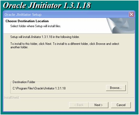 oracle jinitiator